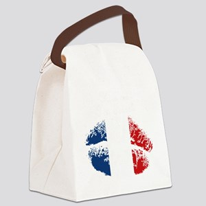 Kiss Me. Im French Canvas Lunch Bag