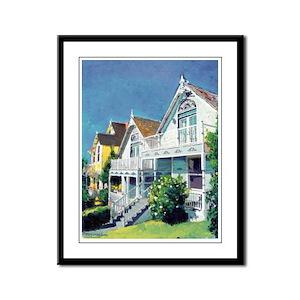 Victorian Cottages Framed Panel Print