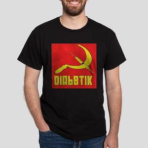 Diabetik w/red background Dark T-Shirt