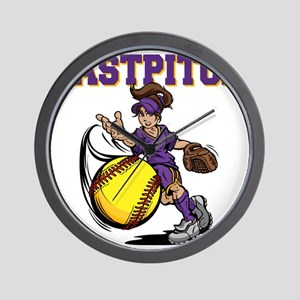 yellowpurple, FASTPITCH, SHEIRING, fres Wall Clock