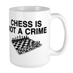 Chess is Not a Crime Large Mug