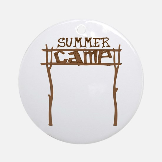 Summer Camp Sign Ornament (Round)