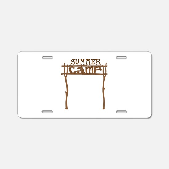 Summer Camp Sign Aluminum License Plate