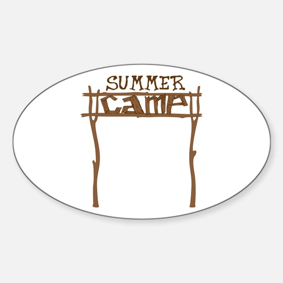 Summer Camp Sign Decal