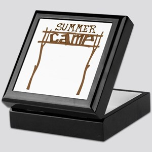 Summer Camp Sign Keepsake Box