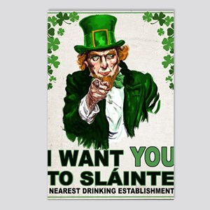 I Want You to Sláinte art Postcards (Package of 8)