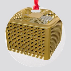 Golden AC Round Ornament