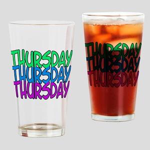 thursday Drinking Glass