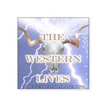 The Western Lives Square Sticker 3