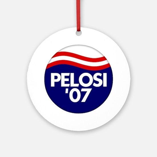 Pelosi '07 Ornament (Round)