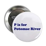 P is for Potomac River Button