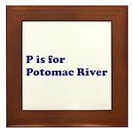 P is for Potomac River Framed Tile