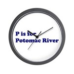 P is for Potomac River Wall Clock