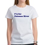 P is for Potomac River Women's T-Shirt