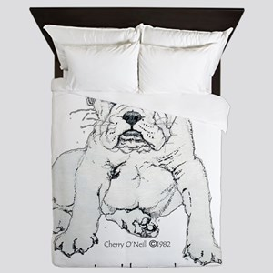 Bulldog Puppy Queen Duvet