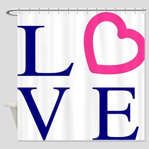 love-logo-hi Shower Curtain