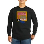 APPROVED! - Double Bacon Long Sleeve Dark T-Shirt