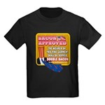 APPROVED! - Double Bacon Kids Dark T-Shirt