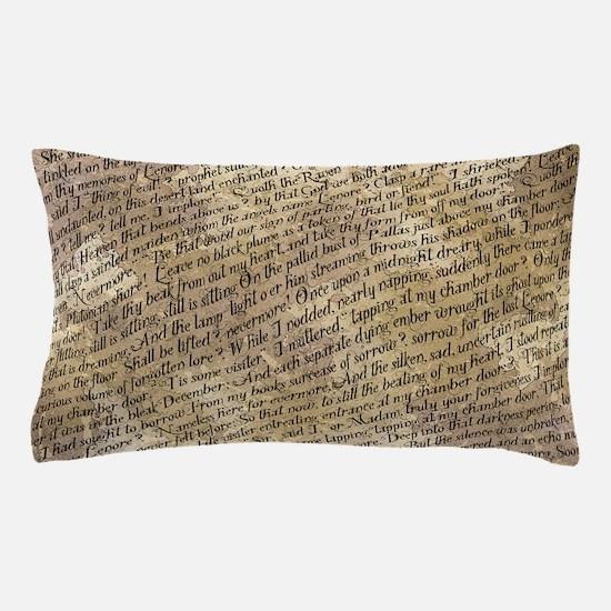 Poe Raven Text Pattern Pillow Case