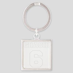 GRACIE 6, freshman on black Square Keychain