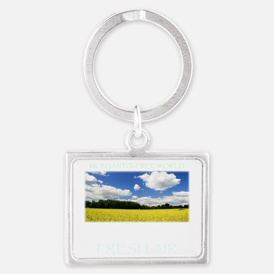 Monsanto-Free World - A Breath  Landscape Keychain
