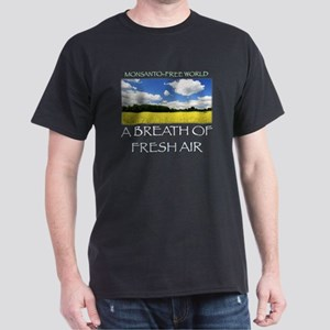 Monsanto-Free World - A Breath of Fre Dark T-Shirt