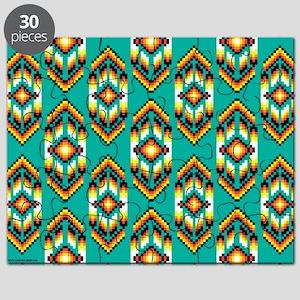 Native American Design Turquoise Puzzle