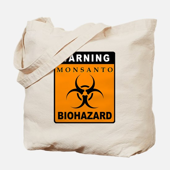 Warning - Monsanto:  Biohazard Tote Bag