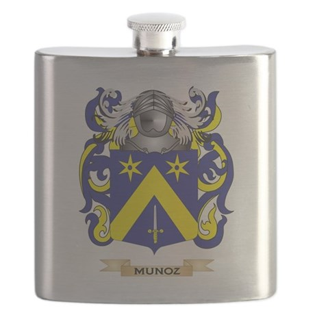 Munoz Coat of Arms - Family Crest Flask