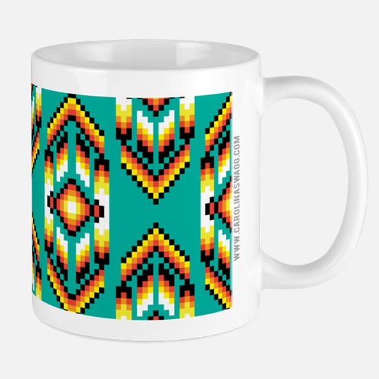 Native American Design Turquoise Mugs