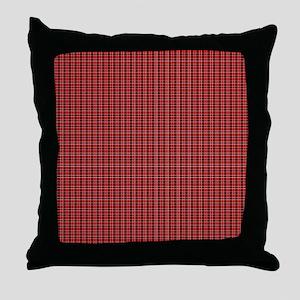 Red Tartan Pattern Throw Pillow