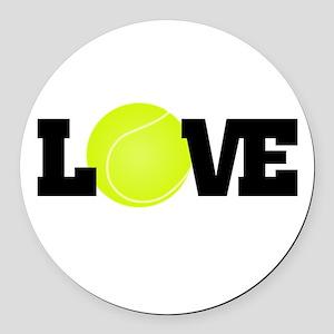 Tennis Love Round Car Magnet