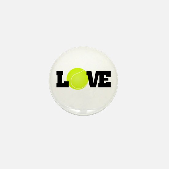 Tennis Love Mini Button