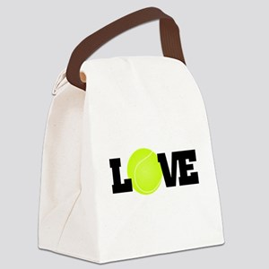 Tennis Love Canvas Lunch Bag