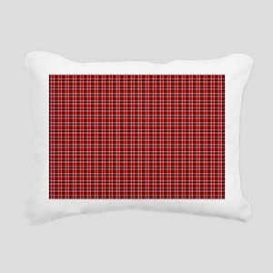 Red Tartan Pattern Rectangular Canvas Pillow