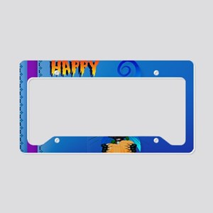 Yard Sign-Blue Witch Kitty-Ha License Plate Holder
