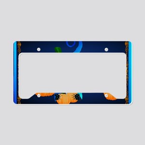 Yard Sign-Blue Witch Kitty License Plate Holder