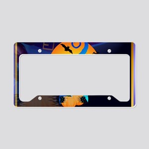 Blue Witch Kitty -Harvest Moo License Plate Holder