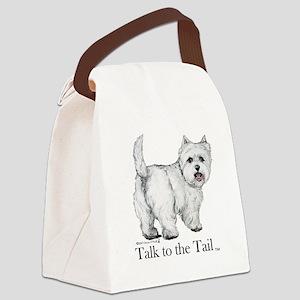 Westie Attitude Canvas Lunch Bag