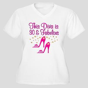 DAZZLING 30TH Women's Plus Size V-Neck T-Shirt