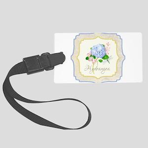 Blue Hydrangea Dragonfly Shabby Chic Floral Luggag