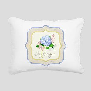 Blue Hydrangea Dragonfly Shabby Chic Floral Rectan