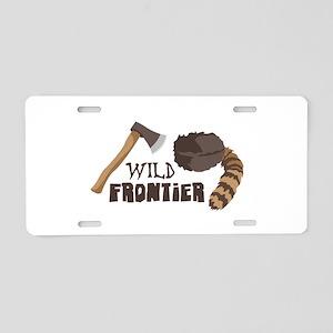 Wild Frontier Aluminum License Plate