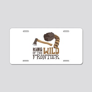 King of the Wild Frontier Aluminum License Plate