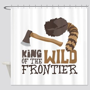 King of the Wild Frontier Shower Curtain