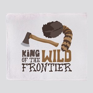 King of the Wild Frontier Throw Blanket