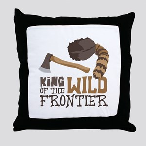 King of the Wild Frontier Throw Pillow