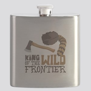 King of the Wild Frontier Flask