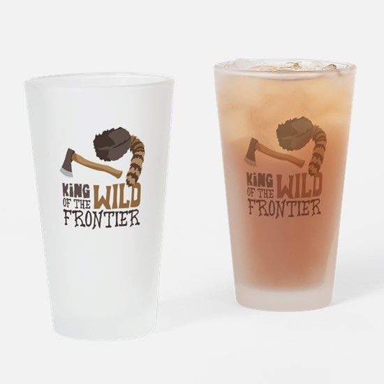 King of the Wild Frontier Drinking Glass