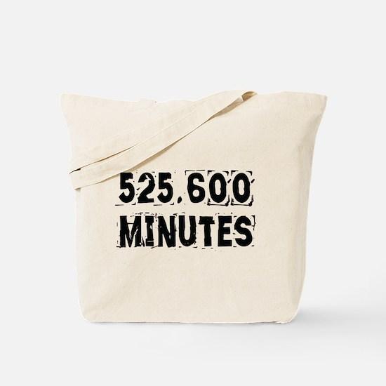 525,600 Minutes (light) Tote Bag